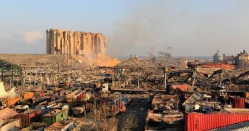 دمر انفجار بيروت صومعة الحبوب الوحيدة في لبنان