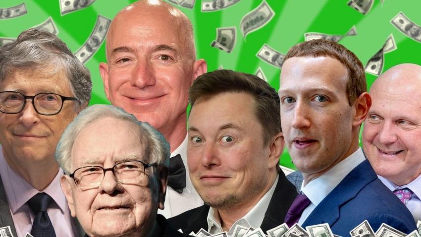 أغنى ثمانية أشخاص في العالم تزيد ثروتهم الأن على التريليون دولار